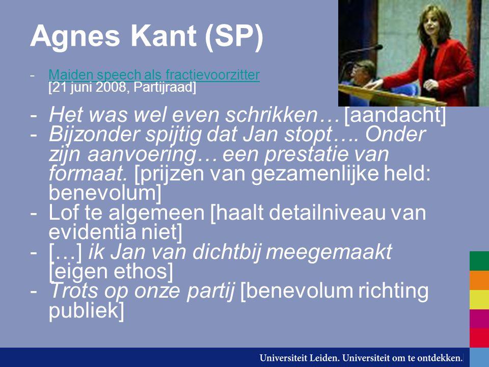 Agnes Kant (SP) Het was wel even schrikken… [aandacht]